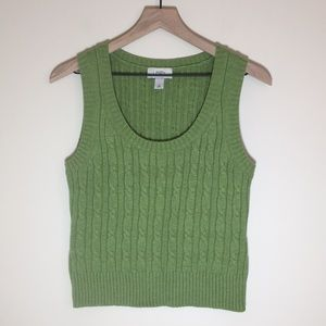 Ann Taylor Cable Knit Sweater Vest